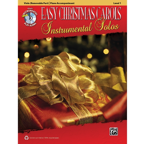 Easy Christmas Carols for Viola (Level 1) with Piano Accompaniment